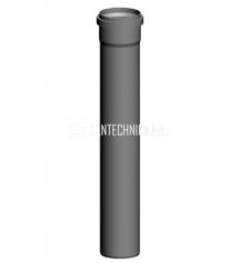 B23 dūmtraukio vamzdis DN 80mm 1000mm WOLF