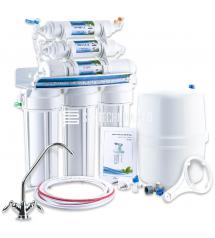 6 pakopų membraninis vandens filtras Reverse Osmosis (RO)